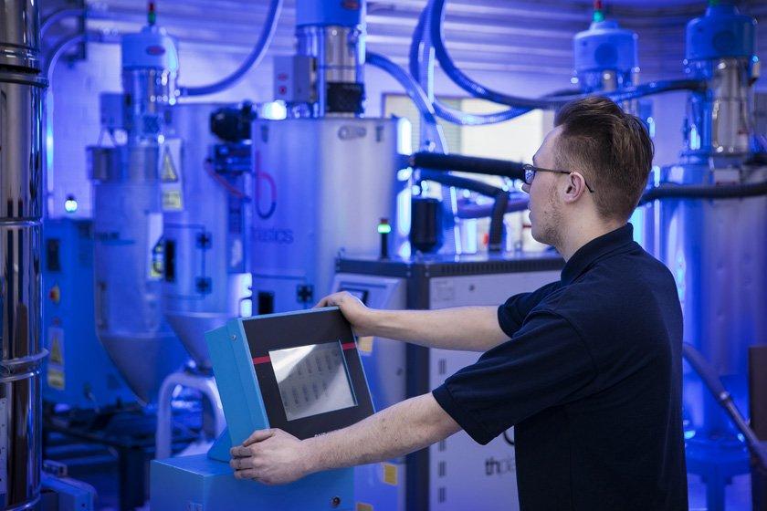 machine operative at medical moulding company Wheatley Plastics