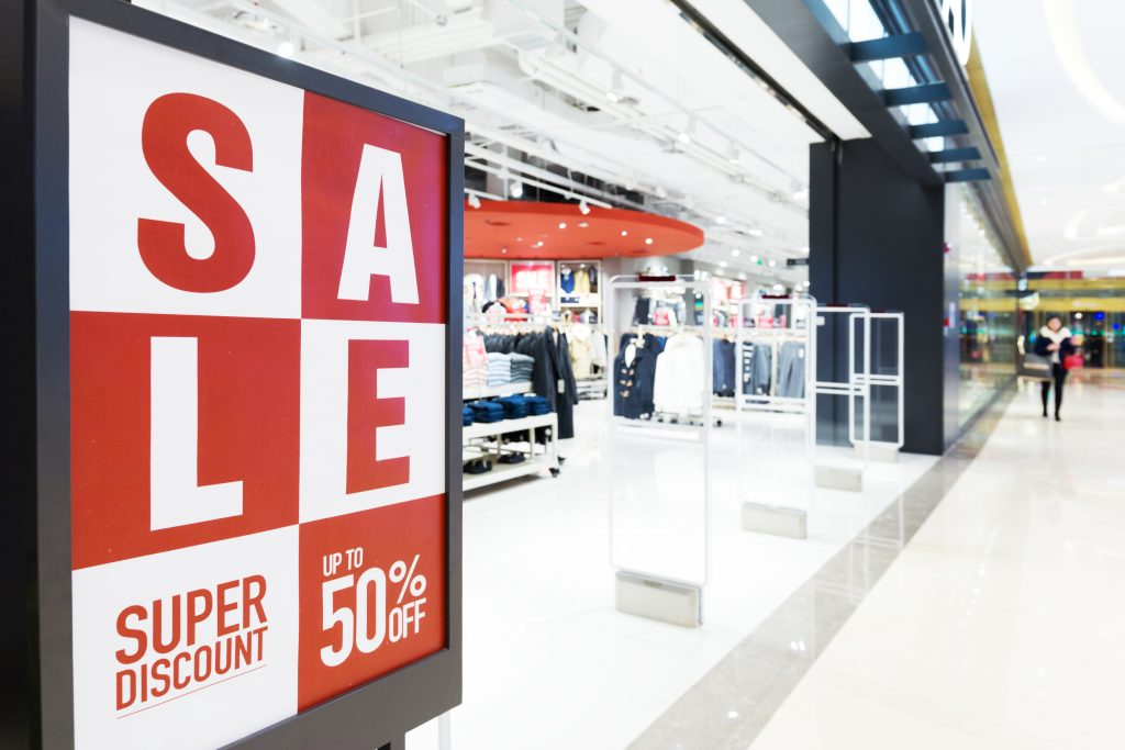 shop promotional sale sign